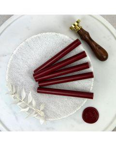 Traditional Red Glue Gun Sealing Wax Sticks (Matt) - 11mm