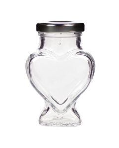 Heart Wedding Favour Jar