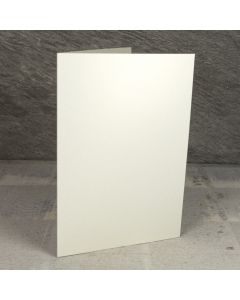 Creased Card A5 - Vintage Ivory Lustre