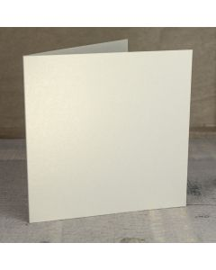 Creased Card Large Square - Vintage Ivory Lustre