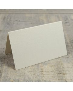 Creased Card Place Card - Vintage Ivory Lustre