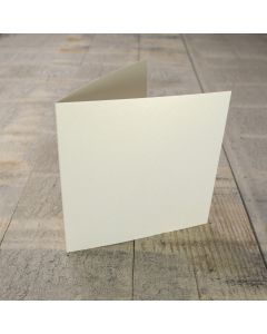 Creased Card Small Square - Vintage Ivory Lustre