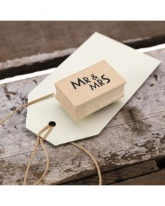 Mr and Mrs Rubber Stamp - Label