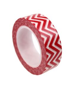 Washi Tape - Chevron Red