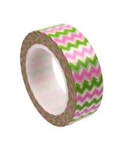 Washi Tape - Chevron Pink/Green