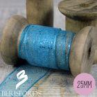 'Random Glitter' Wired Ribbon from Berisfords 25mm