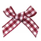 Burgundy Gingham Ribbon Bows (7mm wide)