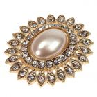 Gold Tesoro Diamante and Pearl Embellishment