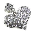 Diamante Heart Charm