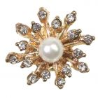 Poppet Pearl Gold Embellishment - Zoom