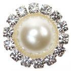 Diamante Pearl Circle - Diamante and Pearl Embellishment