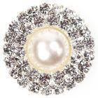 Diamante Pearl Circle - 'Duo' Diamante and Pearl Embellishment