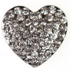 Stardust Heart - a diamante encrusted metal heart embellishment
