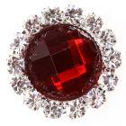 Diamante Gem Circle - Regal Red