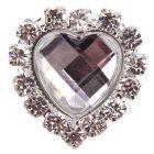 Diamante Gem Heart Embellishment