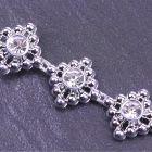 Deco Diamante Trim Silver - Zoom