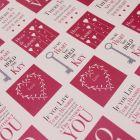 'Love' Decorative Stickers - Sticker Detail