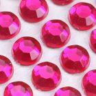 6mm Fuchsia Self Adhesive Jewel Gems