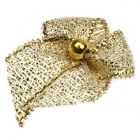 Gold Dinky Lurex Bows with Beads