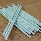 Polka Dot Turquoise Paper Straws