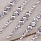 Crescendo (Clear Diamante) Self Adhesive Embellishment (10 per Sheet)
