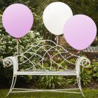Feature Balloons 36 Inch (White & Pink)