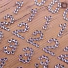 Diamante Numbers Clear Silver - Zoom