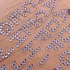 Diamante Alphabet Clear Silver - Zoom