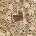 Amore Hearts Sequin Gold Lustre Paper - Detail