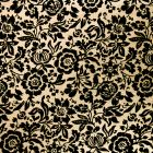 The Eastnor (Black on Gold) A4 Flocked Paper.