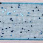 Turquoise Blue Colour 4 - Random Glitter Wired Berisfords 40mm Ribbon