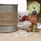 Wired 38mm Rustic Hessian Ribbon - Natural