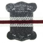 20mm Red Ivory Lace and Velvet Trim on Display Ribbon Keeper