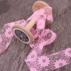 38mm Pink May Arts Wide Lace Trim