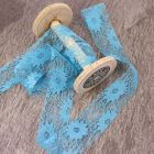38mm Turquoise May Arts Wide Lace Trim