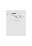 Calligraphy Editable A6 Save the Date Card Template product image