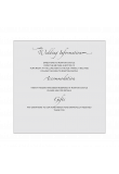 Wedding Information Card Template product image