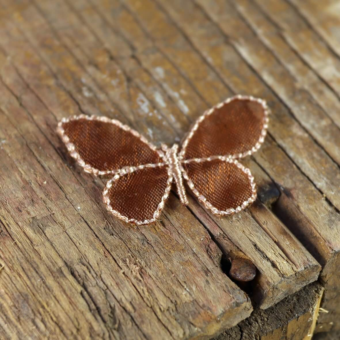 Small Coffee Sheer Butterflies