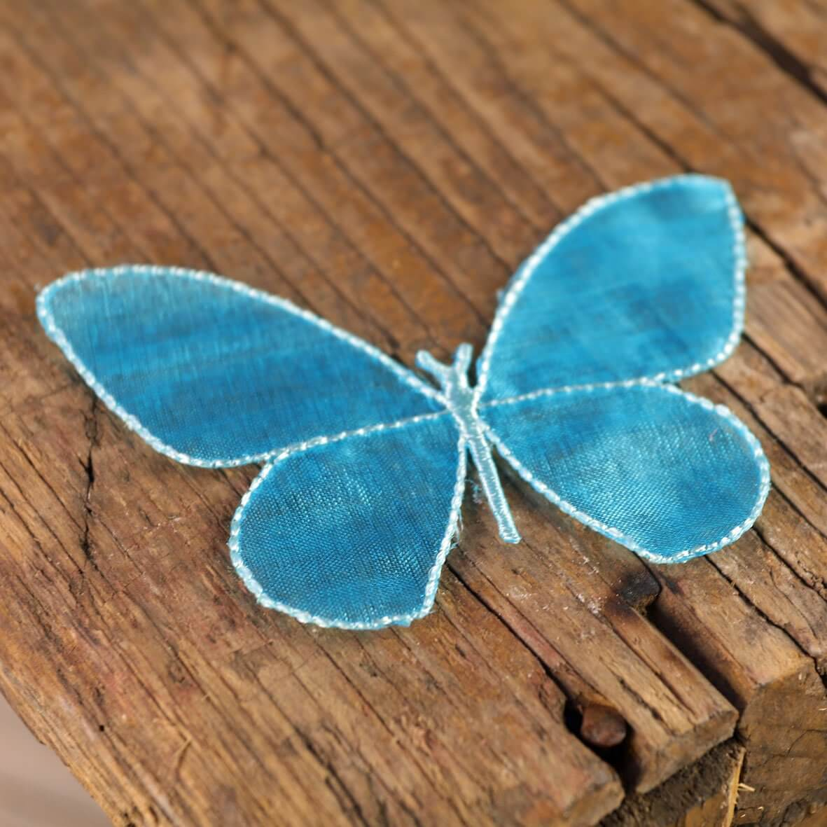 Large Turquoise Sheer Butterflies
