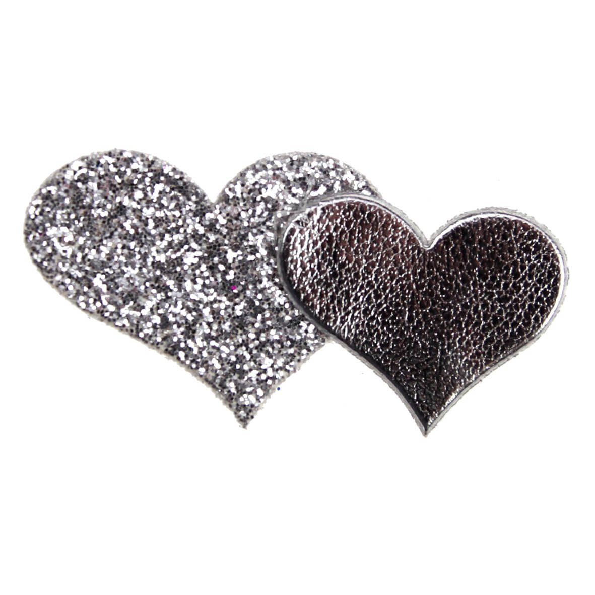 Silver Glitter Hearts from Club Green