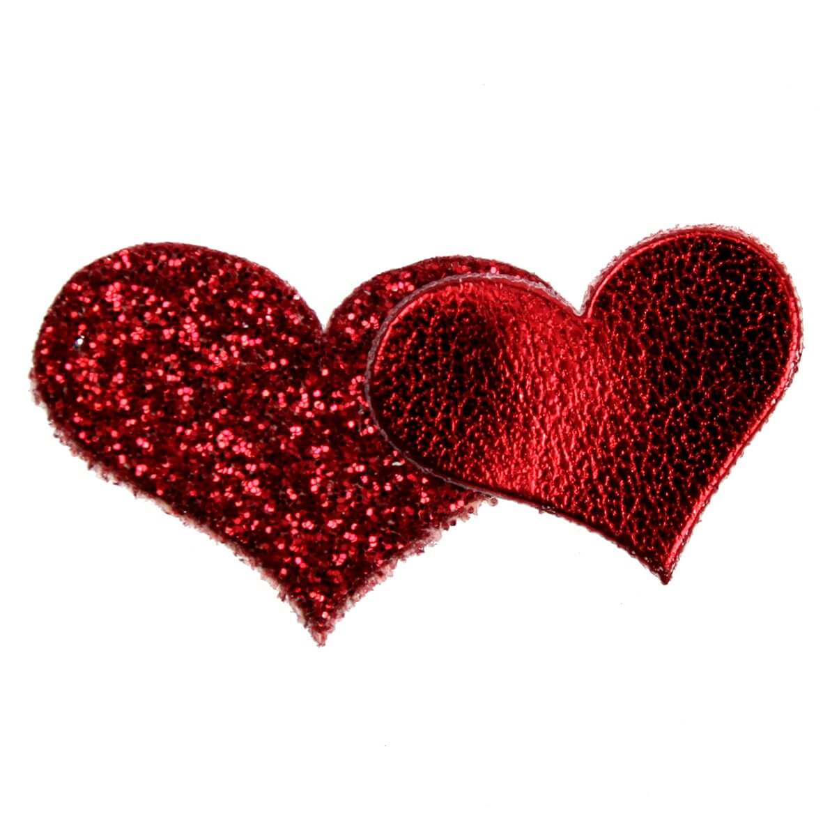 Red Glitter Hearts from Club Green