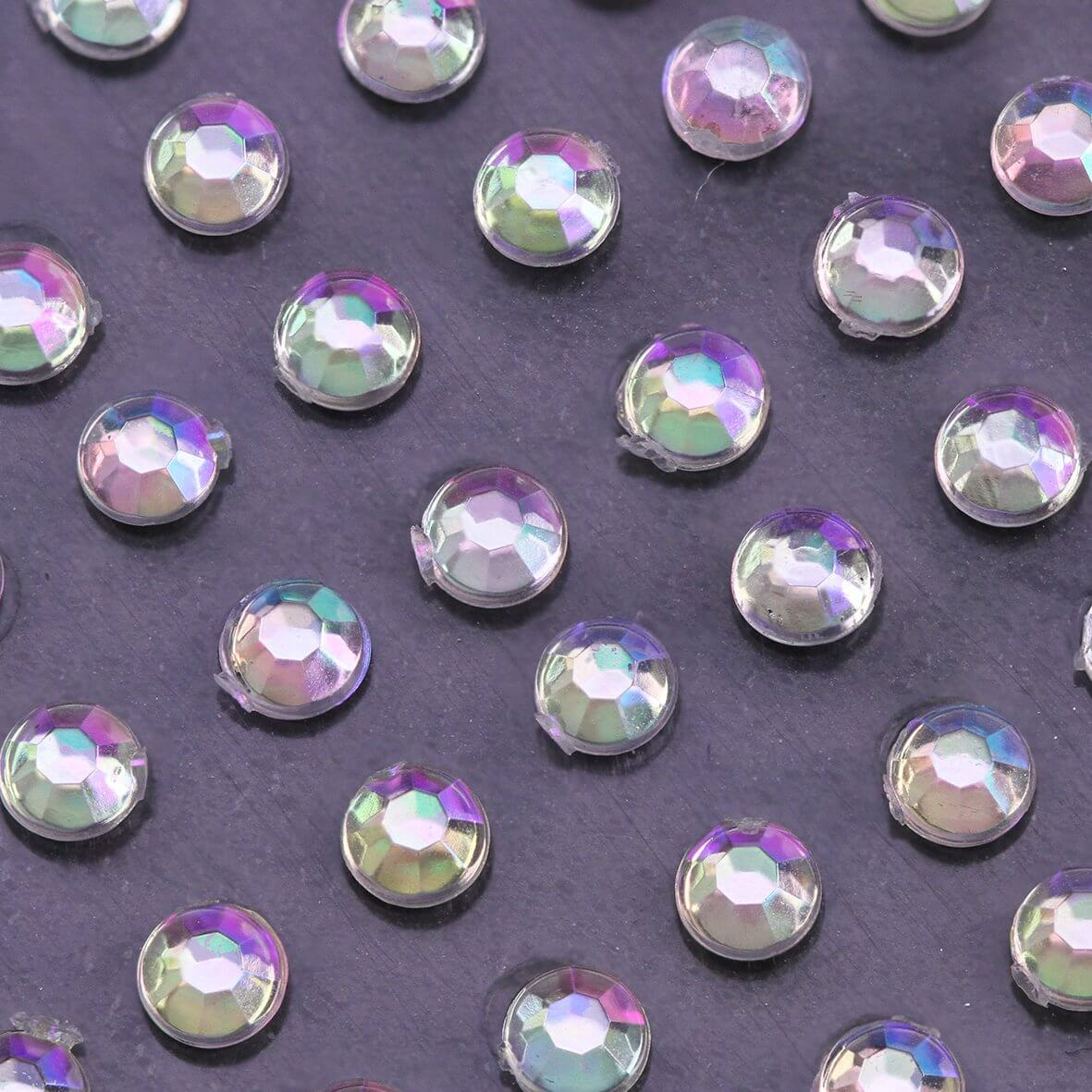 3mm AB Crystal Self Adhesive Diamantes - Zoom