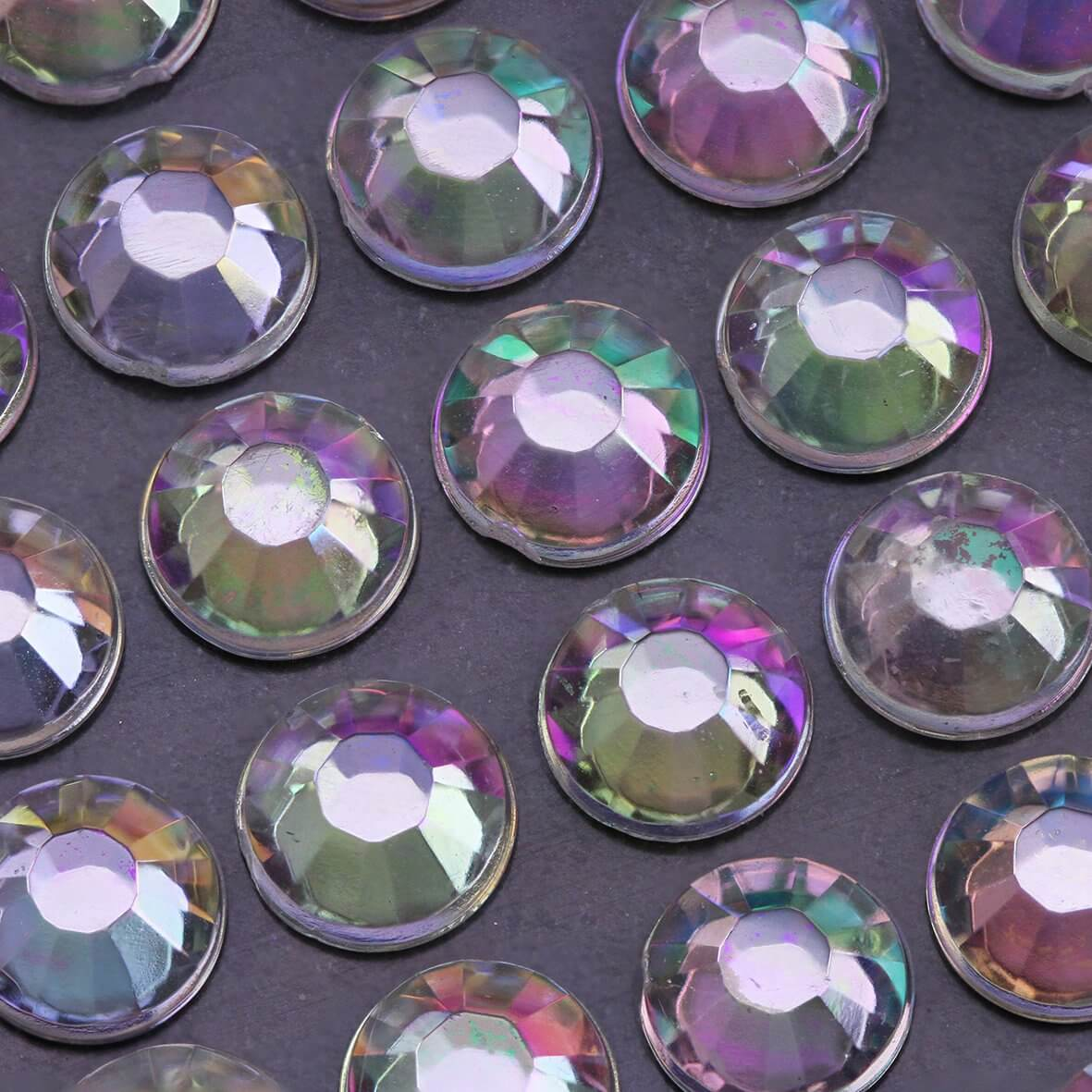 6mm AB Crystal Self Adhesive Diamantes - Zoom