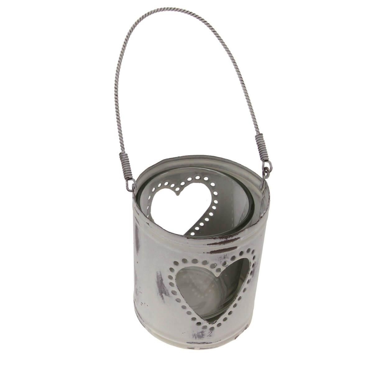 Hanging Heart Ivory Tea Light Holder