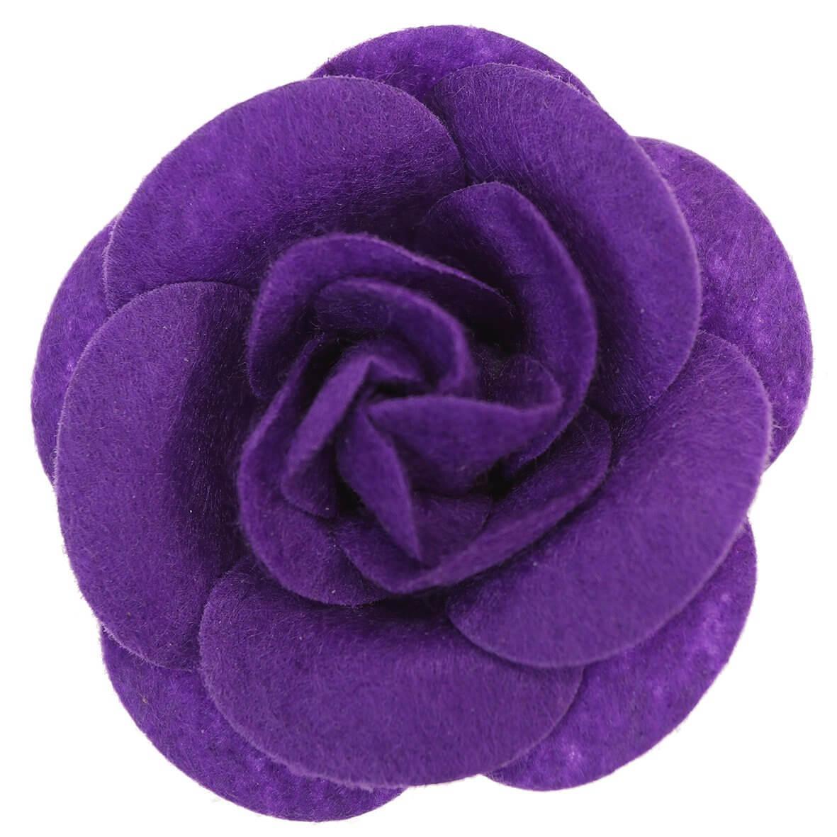 55mm Purple Felty Rose