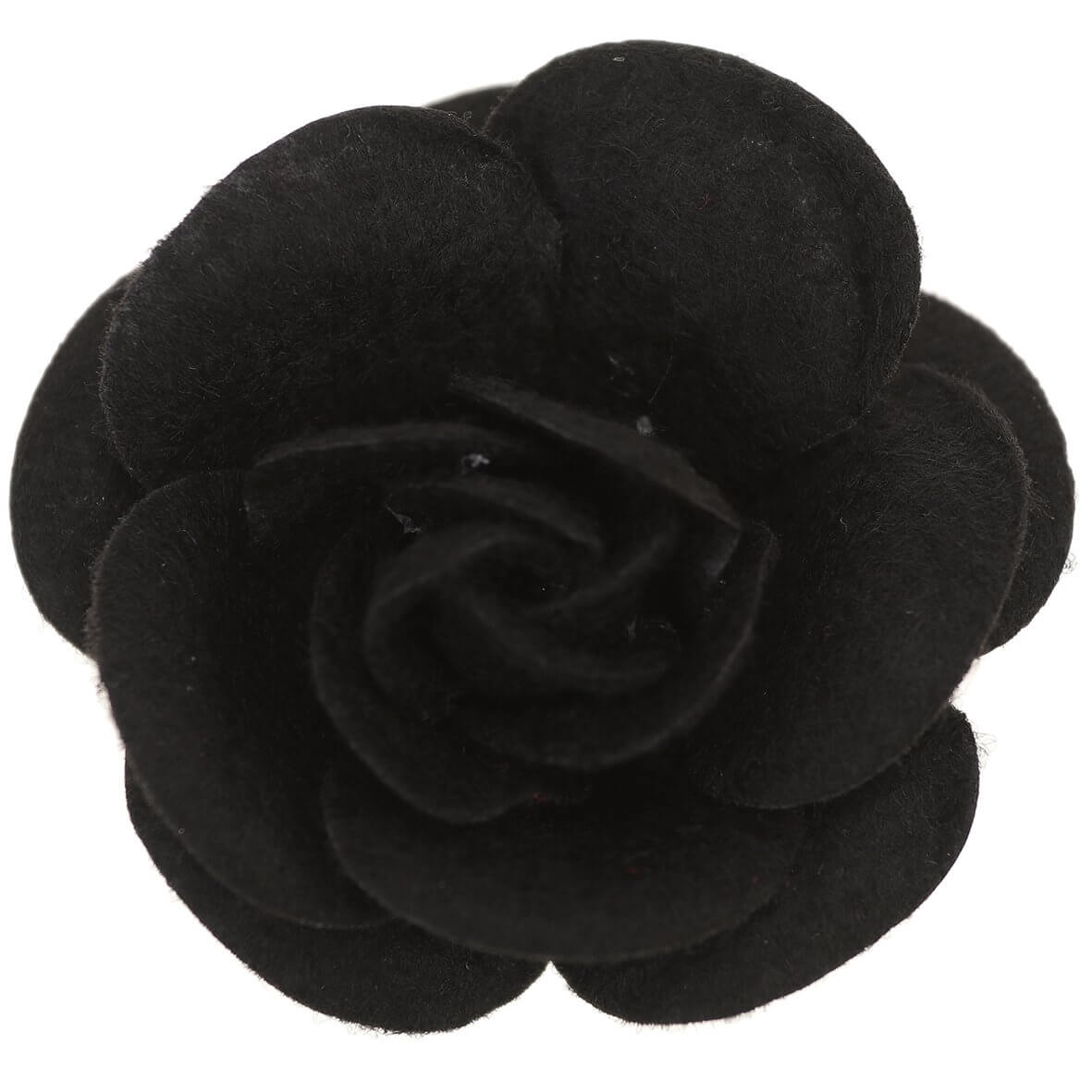 55mm Black Felty Rose