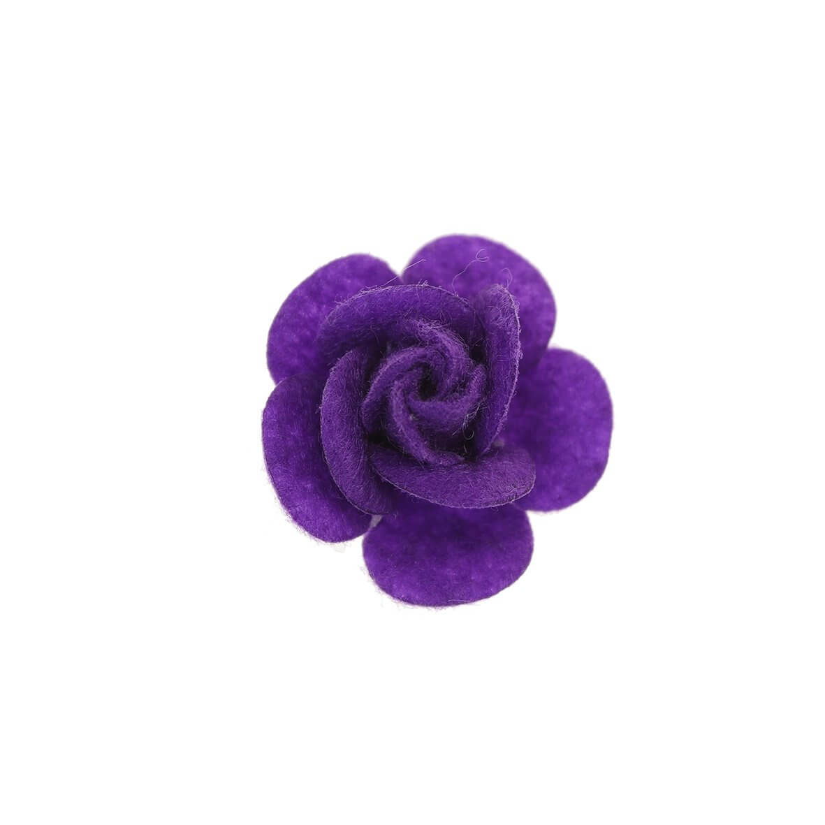 25mm Purple Felty Rose