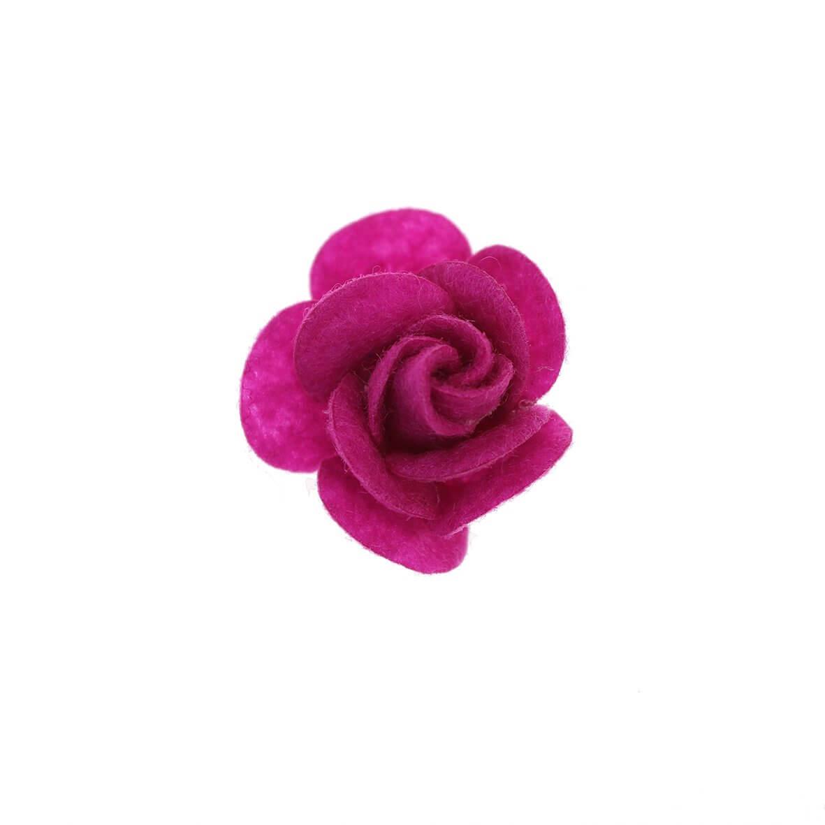 25mm Cerise Felty Rose