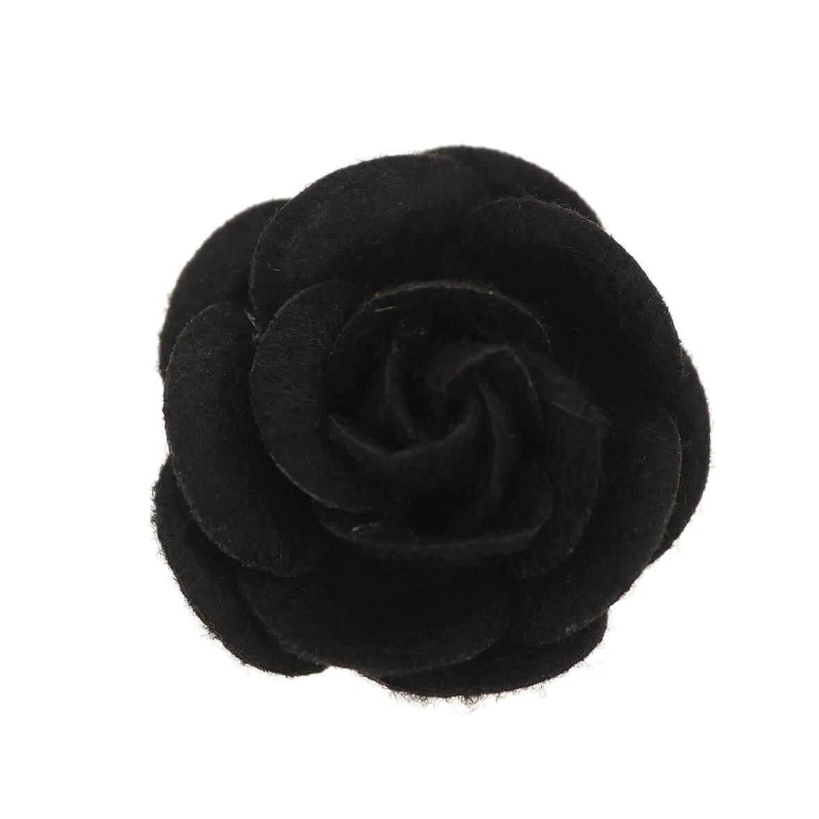 35mm Black Felty Rose