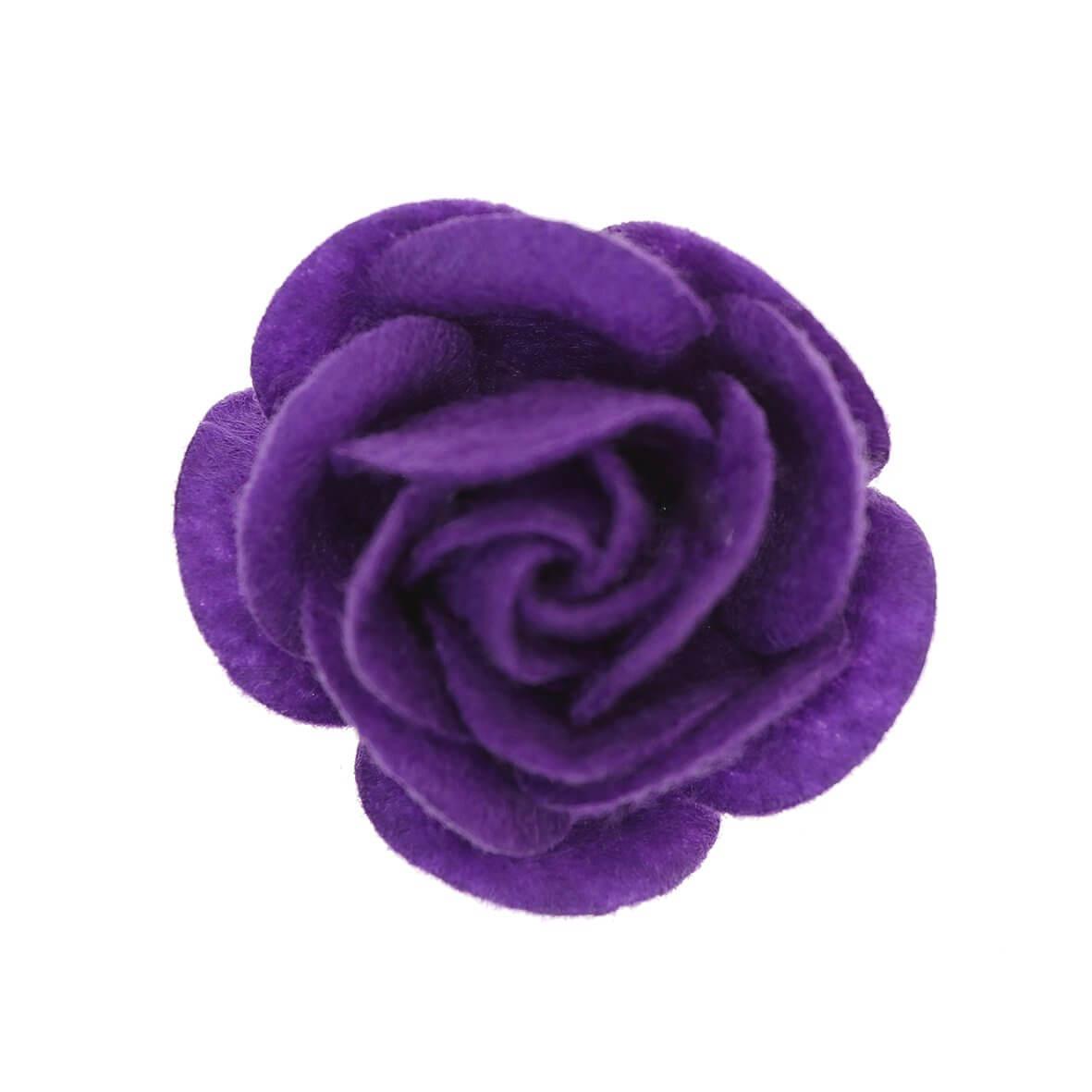 35mm Purple Felty Rose